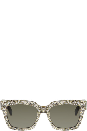 Saint Laurent - Black & Silver Bold 1 Sunglasses