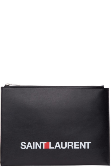 Saint Laurent - Black 'Saint Laurent' Pouch