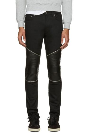Saint Laurent - Black Low Waisted Skinny Biker Jeans