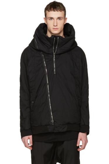 Julius - Black Seamed Hooded Jacket