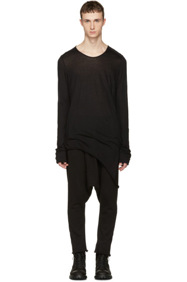 Julius - Black Suspend Cut & Sewn T-Shirt