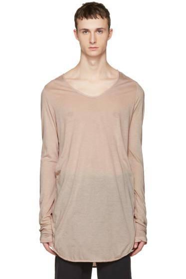 Julius - Pink Round Cut & Sewn T-Shirt