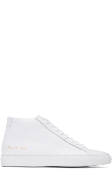 Woman by Common Projects - White Original Achilles Mid Sneakers