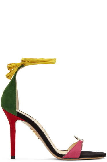 Charlotte Olympia - Multicolor Suede 'Let's Dance' Sandals