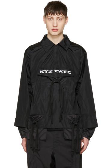 KTZ - ブラック ギャザー ポケット シャツ