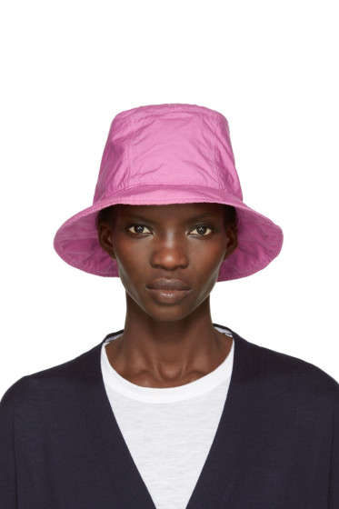 Sacai - Pink Overdyed Bucket Hat
