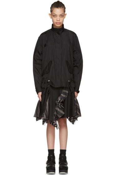 Sacai - Black Bomber Top Dress