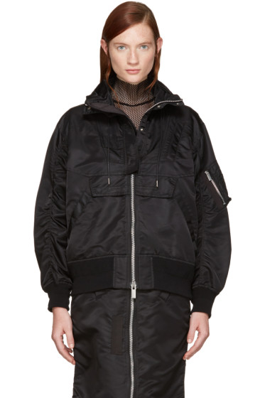 Sacai - Black MA-1 Jacket