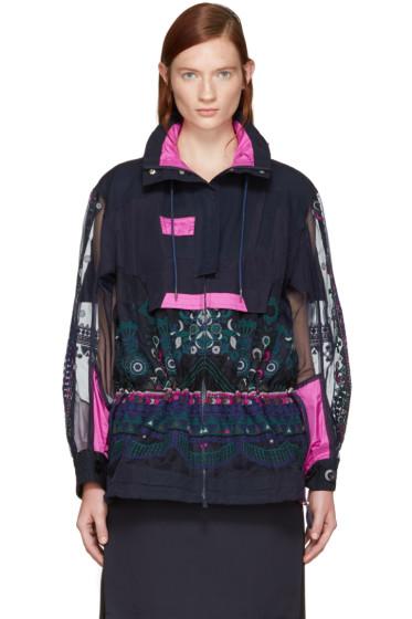 Sacai - Navy Tribal Lace Jacket