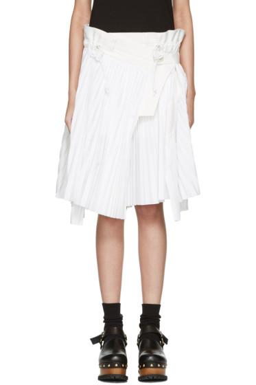 Sacai - White Cole Skirt