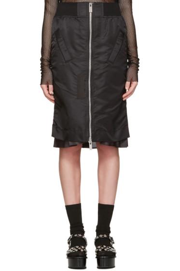 Sacai - Black MA-1 Skirt
