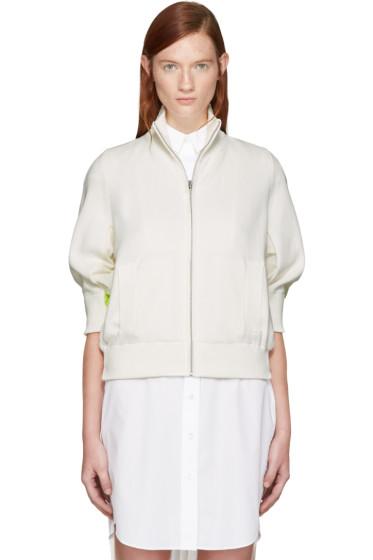 Sacai - Off-White Knit Jacket