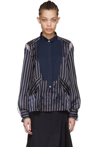 Sacai - Navy Striped Shirt
