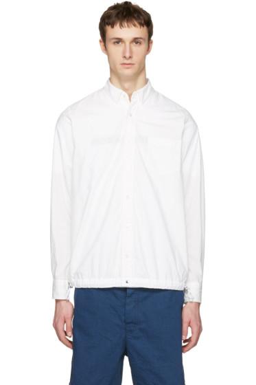 Sacai - White Typewriter Pattern Shirt