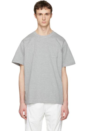 Sacai - Grey Cotton T-Shirt