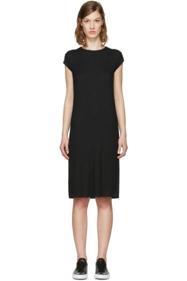 6397 - ブラック リブ ドレス