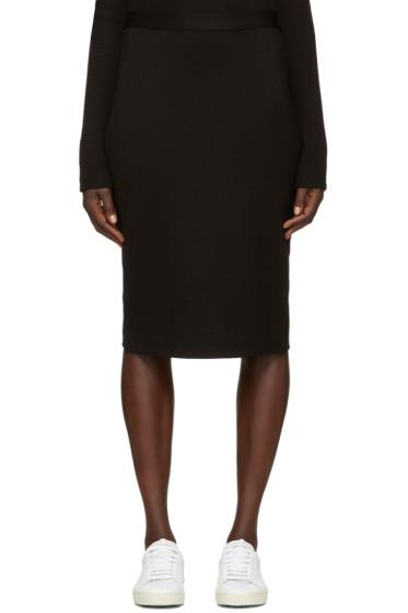 6397 - Black Stretch Pencil Skirt