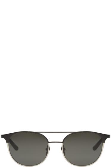 Linda Farrow Luxe - ブラック & ホワイト ゴールド 421 サングラス