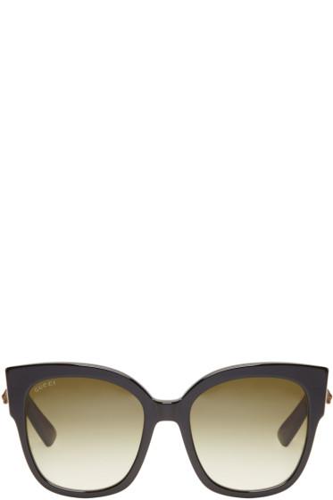 Gucci - Black Large Square Sunglasses