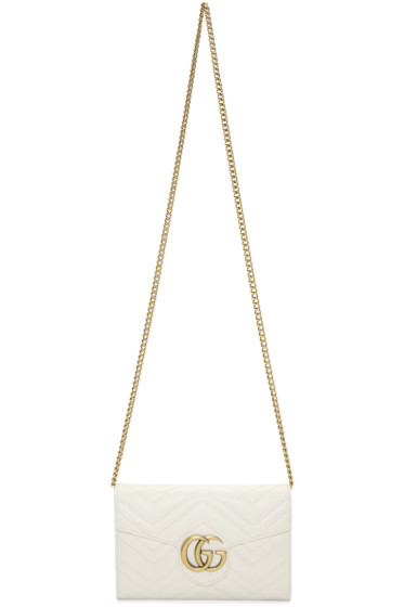 Gucci - White GG Marmont Bag