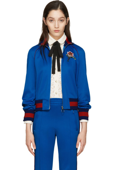 Gucci - Blue Embroidered Track Jacket