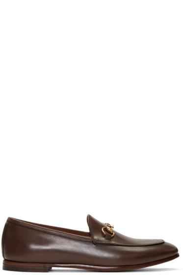 Gucci - Brown Jordaan Loafers