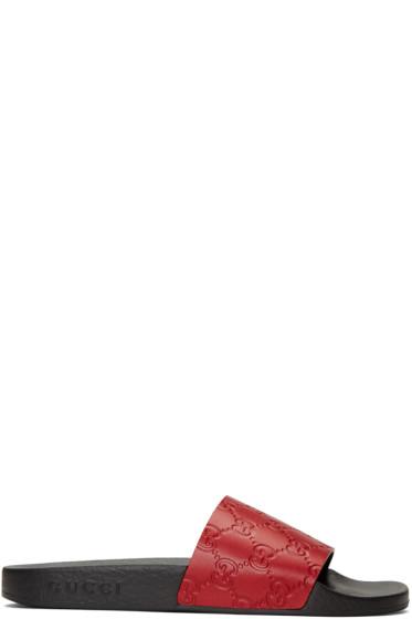 Gucci - Red Pursuit Trek Sandals