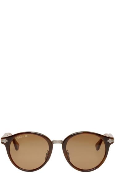 Gucci - Tortoiseshell Layer Web Sunglasses