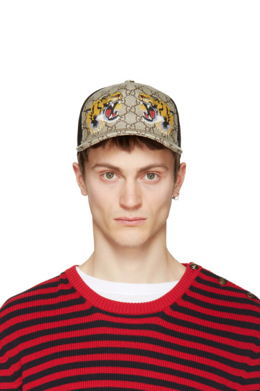 Gucci - Brown GG Tiger Baseball Cap