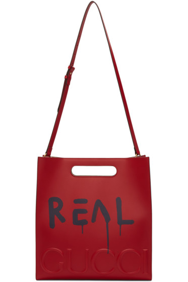 Gucci - Red 'Real' GucciGhost Tote