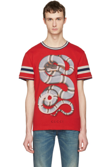 Gucci - Red Snake T-Shirt