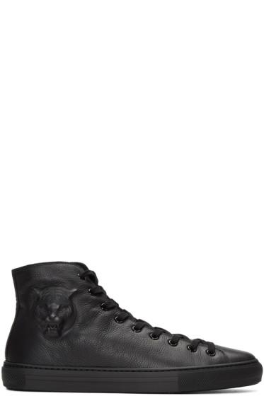 Gucci - Black Major Tiger High-Top Sneakers