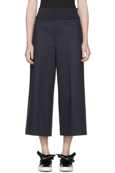 Cédric Charlier - Navy Wide-Leg Trousers