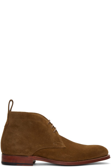 Grenson - Brown Suede Marcus Boots