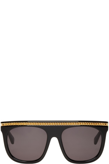 Stella McCartney - Black Falabella Flat-Top Sunglasses