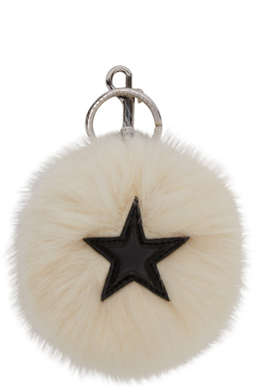 Stella McCartney - Ivory Faux-Fur Star Keychain