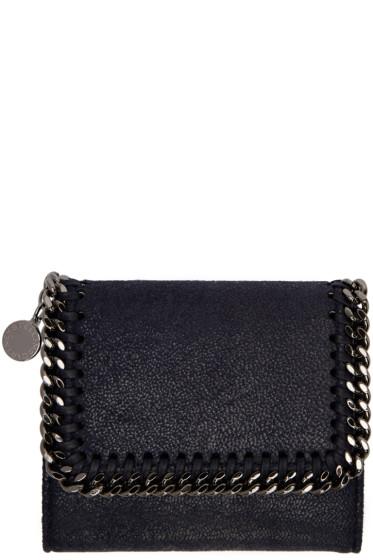 Stella McCartney - Navy Small Falabella Flap Wallet