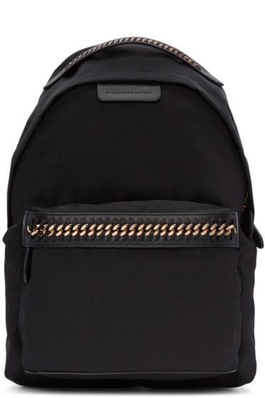 Stella McCartney - Black Nylon Chained Backpack
