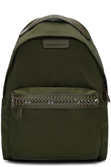 Stella McCartney - Green Nylon Chain Backpack