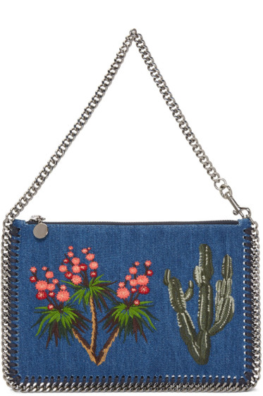 Stella McCartney - Blue Denim Falabella Pouch