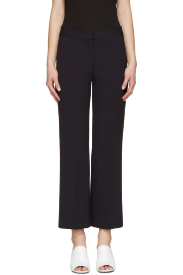 Stella McCartney - Navy Crop Flare Trousers