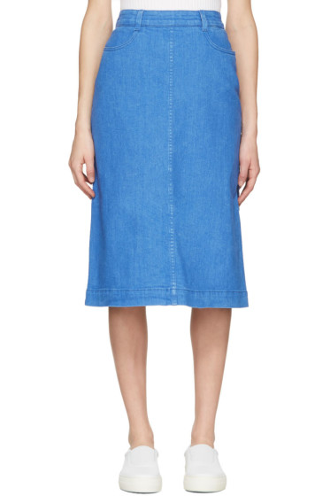 Stella McCartney - Blue Denim Skirt