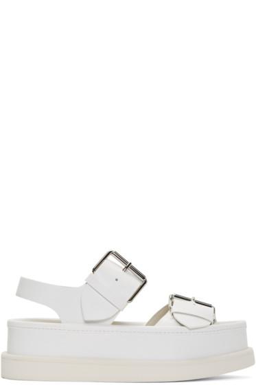 Stella McCartney - White Buckles Sandals