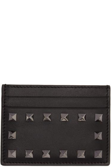 Valentino - Black Rockstud Card Holder
