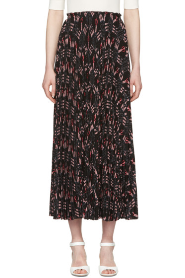 Valentino - Black Pleated Love Blade Skirt