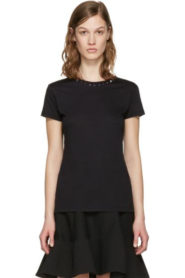 Valentino - Black 'Rockstud Untitled' 09 T-Shirt