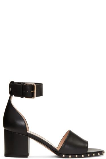 Valentino - Black Soul Rockstud Sandals