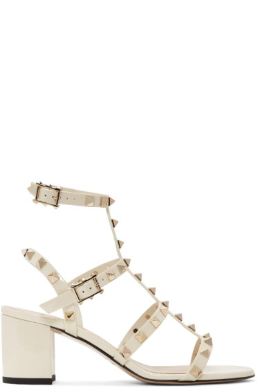 Valentino - Ivory Rockstud Gladiator Sandals