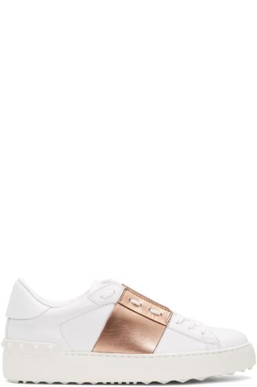 Valentino - White Open Sneakers