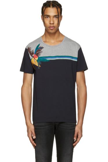 Valentino - Navy Parrot & Tree T-Shirt